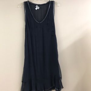 Philosophy di Alberta Ferretti sheer navy dress 6